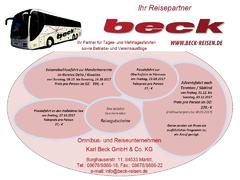 Beck Reisen