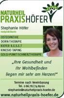 Naturheilpraxis Stephanie Höfer neu in der Stadionzeitung